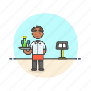 african, american, food, waiter icon