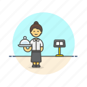 asian, food, waitress icon