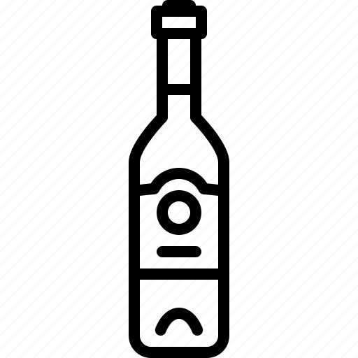 alcohol, bottle, champagne, drink, wine icon