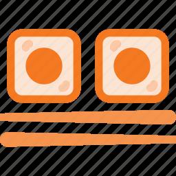 chop, eat, food, stick, sushi icon