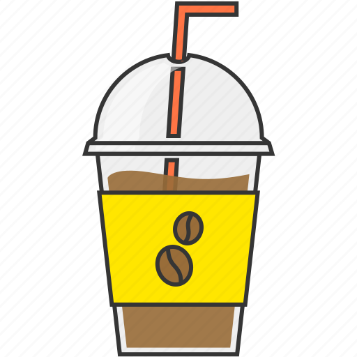 beverage, cafe, coffee, straw icon
