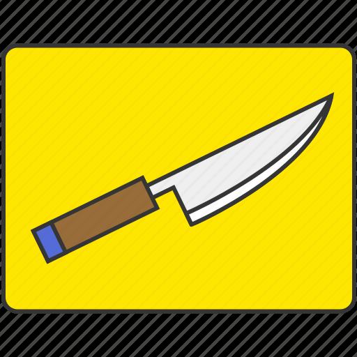 chopping board, cooking, cutting board, knife icon