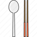 chopsticks, eat, meal, restaurant, spoon icon