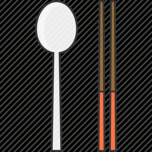 chopsticks, eat, meal, restaurant, spoon icon