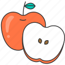 apple, fresh, fruit, meal icon