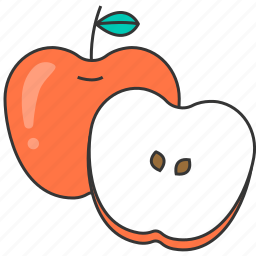 apple, fresh, fruit, meal icon