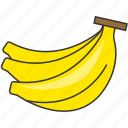 banana, fresh, fruit, meal icon