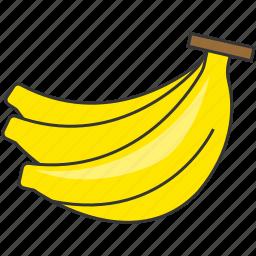 banana, fresh, fruit, meal icon