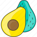 avocado, diet, vegetable, veggie icon