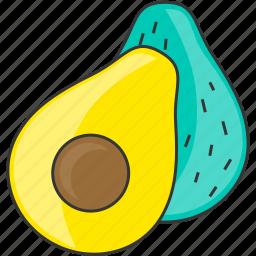 avocado, diet, vegetable, veggie icon