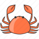 crab, restaurant, sea, seafood icon