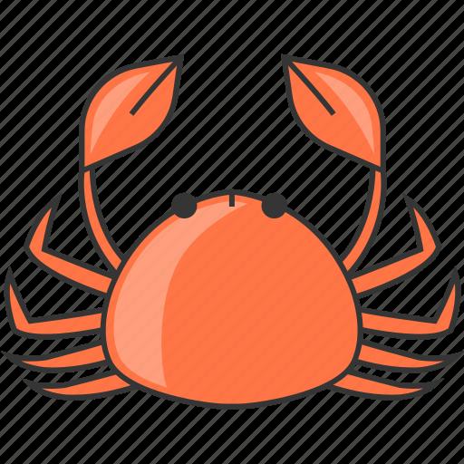crab, restaurant, sea, seafood icon