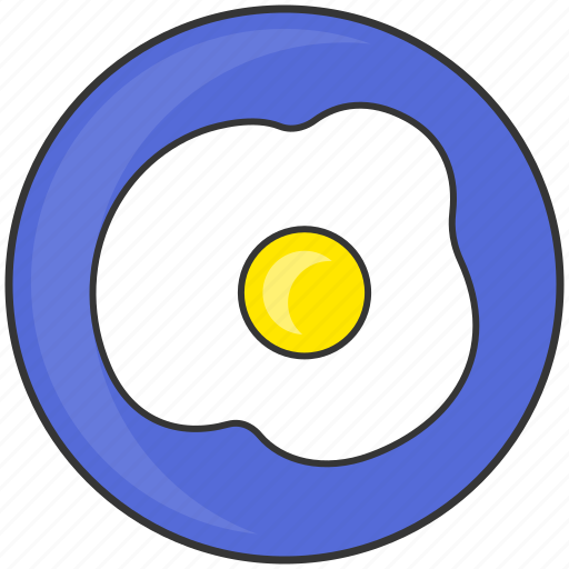 Breakfast, dish, eat, egg, fried egg, meal, plate icon - Download on Iconfinder