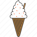 dessert, icecream, icecream cone, sweet icon