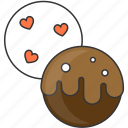 chocolate, dessert, sweet, valentine day icon