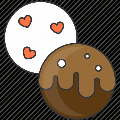 chocolate, dessert, sweet, valentine day icon