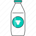 drink, fresh, glass bottle, milk icon