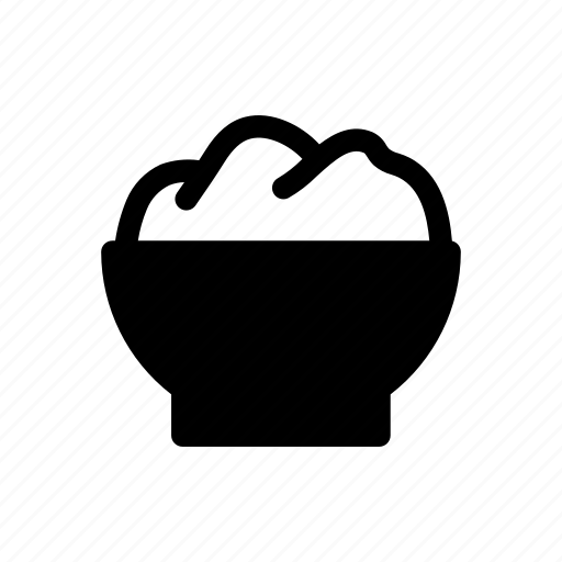 bowl, food, meal, rice, wheat icon