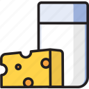cheese, dairy, drink, food, milk icon