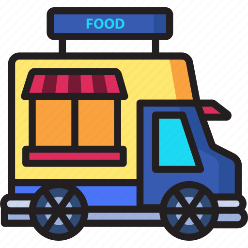 delivery, food, live, truck icon