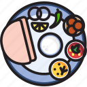dinner, food, full, lunch, meal icon