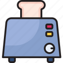 bread, food, junk-food, toaster icon