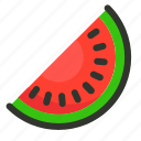 food, fruit, melon, watermelon, watermelon slice icon