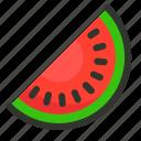 food, fruit, melon, watermelon, watermelon slice