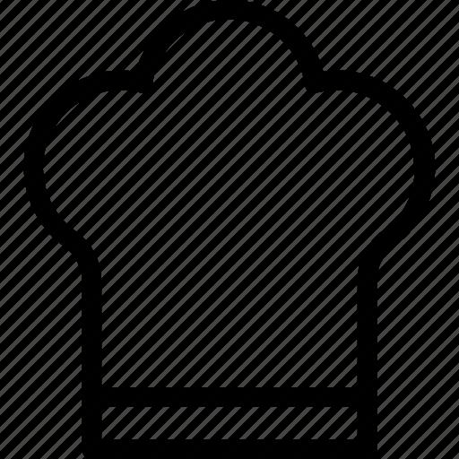 chef, chef hat, chef toque, cook hat, kitchen icon