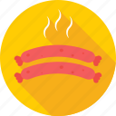 barbecue, bratwurst, roll, salami, sausage icon