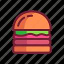 burger, food, hamburger, fast food icon