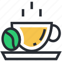 cappuccino, coffee cup, espresso, hot beverage, hot drink icon