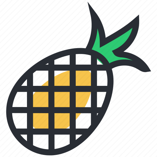 ananas comosus, food, fruit, healthy food, pineapple icon