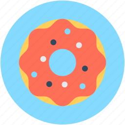 bakery food, confectionery, donut, doughnut, sweet snack icon