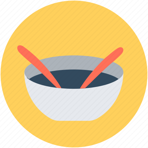 hot soup, meal, soup, soup bowl, spoons icon