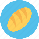 baguette, baguette bread, bread, breakfast, french bread icon