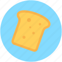 bread, bread slice, bread toast, breakfast, toast icon
