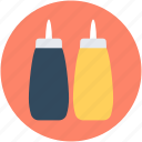 ketchup, ketchup bottles, spaghetti sauce, tomato paste, tomato sauce icon