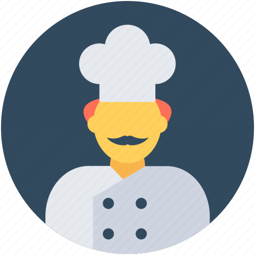 chef, chef cook, cook, cook head, restaurant cook icon