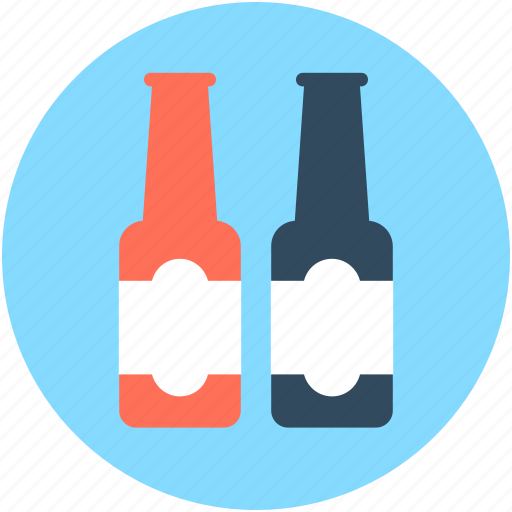 alcohol, beer, bottles, champagne bottles, wine bottles icon