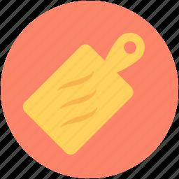 chopping block, chopping board, cutting board, kitchen tool, kitchen utensil icon
