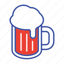 beer, alcohol, drink, lager, beverage, pint icon