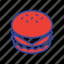 american, burger, cheese, cheeseburger, food, hamburger, meal