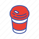 beverage, breakfast, cappuccino, drink, espresso, hot coffee, mug icon