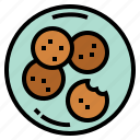 bakery, biscuit, cookie, snack icon