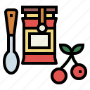breakfast, cherry, food, jam