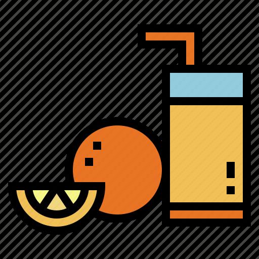 drink, fruit, juice, orange icon
