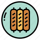 barbecue, food, meat, sausage icon