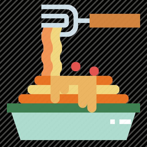 food, pasta, plate, spaghetti icon