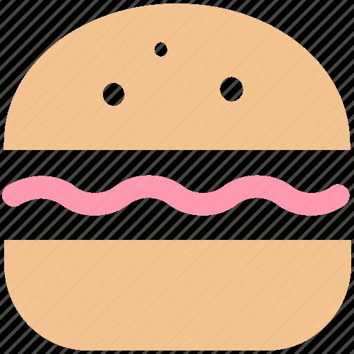 Burger, eating, fast food, food, hamburger, snack icon - Download on Iconfinder